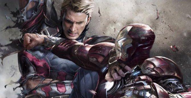 """L'art conceptuel inutilisé de la """"guerre civile"""" se vante d'un affrontement brutal entre Iron Man et Captain America"""