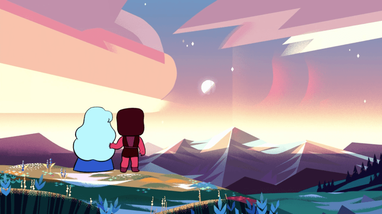 """The background art in """"Hilda"""" is visually captivating. (Image via Steven Universe)"""