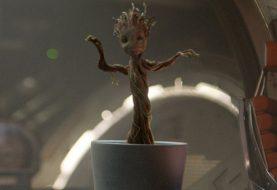 """Gunn partage la scène de Tease of """"Les Gardiens de la Galaxie Vol. 2"""" de Baby Groot"""