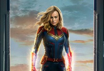 Captain Marvel Rocks the Vote in Latest Set Photo